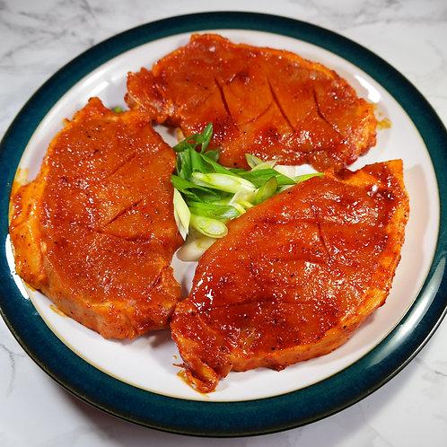 Hot-n-Spicy Pork Sirloins (lb) - approx 2 per lb