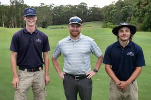 John Falk, Superintendent Gareth Hammond & Oliver Gustavsson, Terrey Hills Golf Club