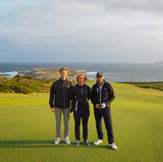 Daniel Vångman (Sweden) Carl Billberg (Sweden) & Mark Matehaere at New South Wales Golf Club