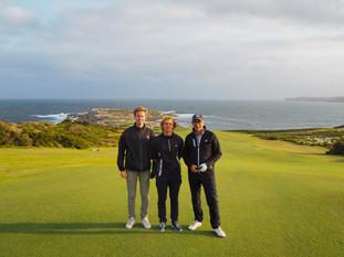 Daniel Vångman, Carl Billberg & Mark Matehaere at New South Wales Golf Club