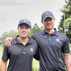 Martin Lindgren and Sebastian Lagerholm (Sweden) at Killara Golf Club