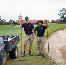 John Falk & Oliver Gustavsson (Sweden) at Terrey Hills Golf Club