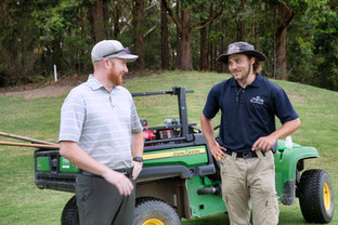 Superintendent Gareth Hammond and Oliver Gustavsson, Terrey Hills Golf Club