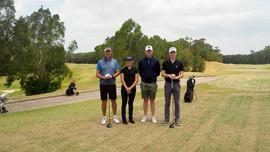 Midsommar celebrations: Club Member Stephen Knight, Sofia Westin, Sebastian Lagerholm & Karl Axelsson at Terrey Hills Golf Club