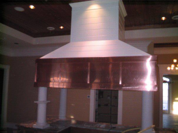 Custom copper vent hood