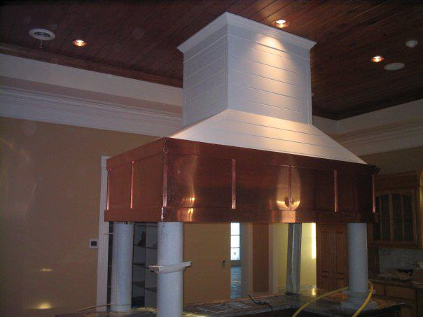 Custom copper vent hood 2