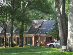 New shingles going on - view of old and new