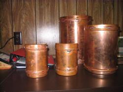Various size copper light fixtures