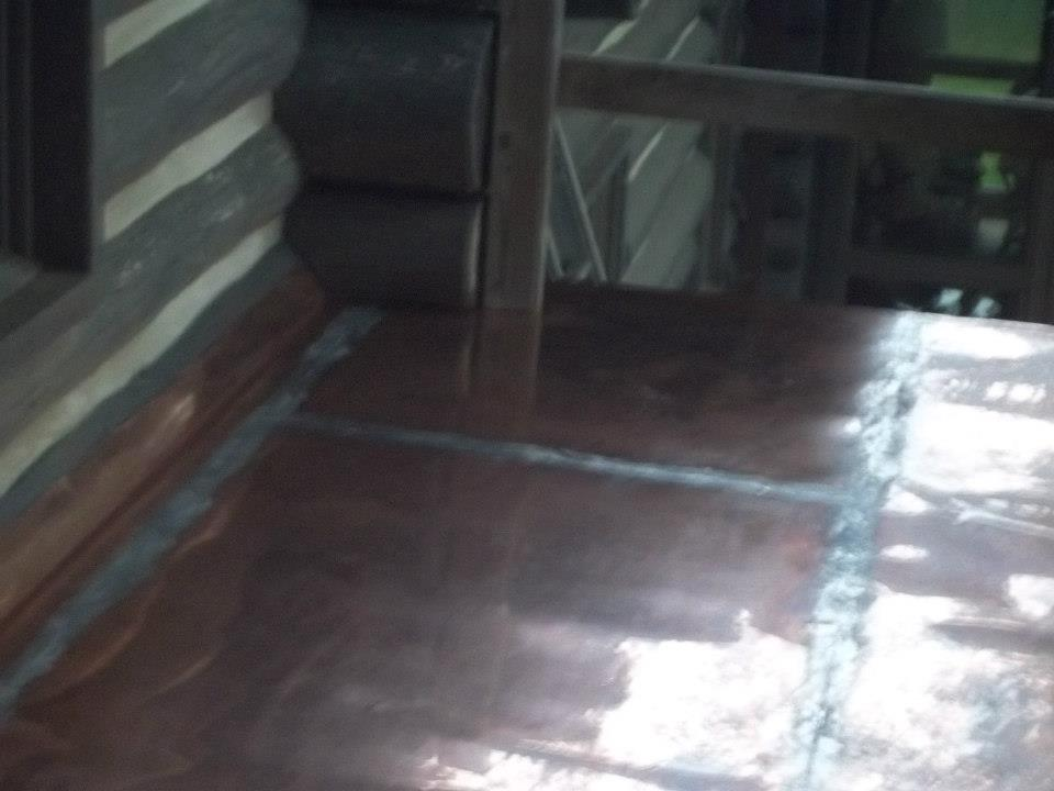 Copper floor in Greenville