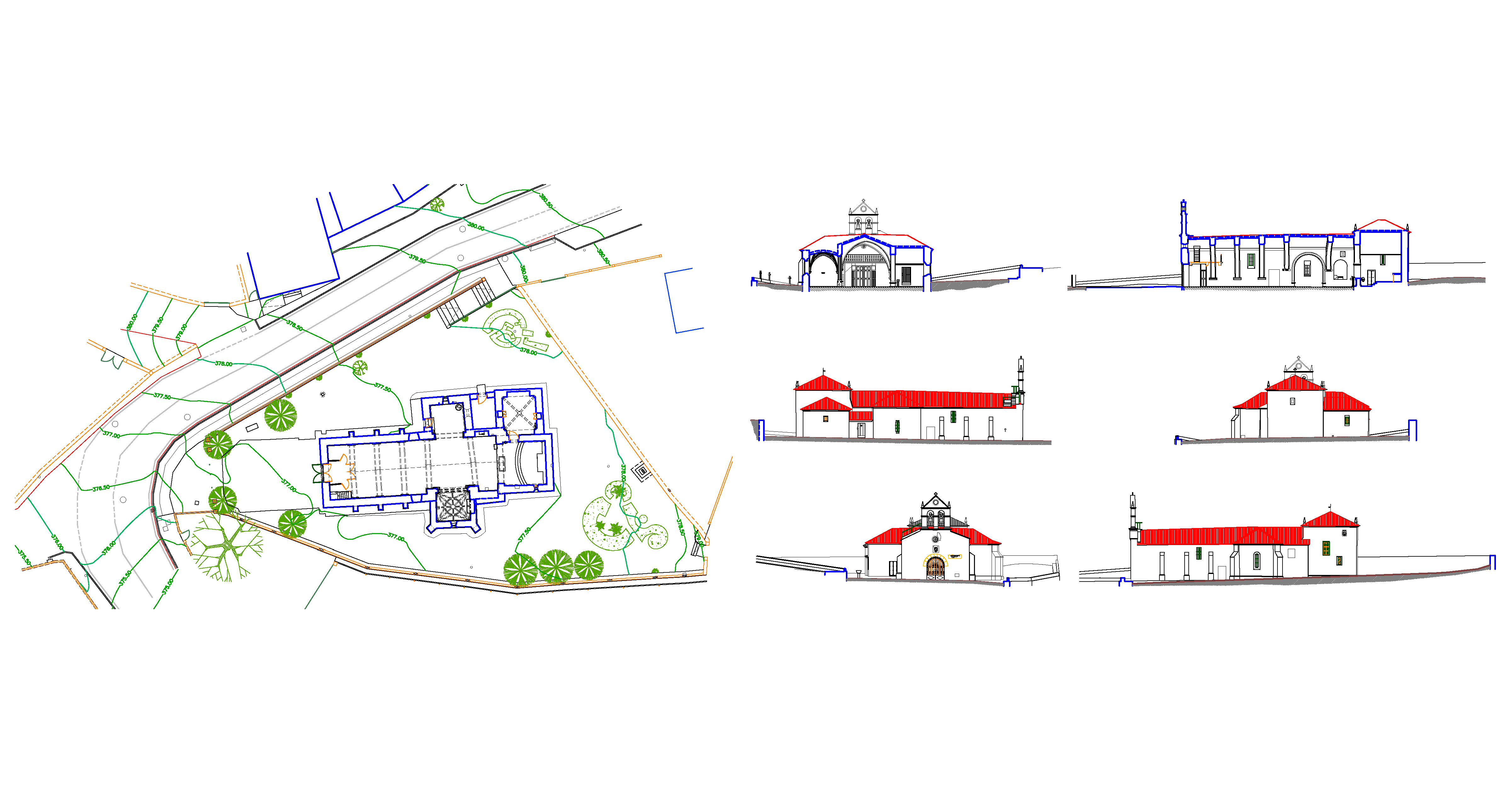 estado-actual-delineacion-planos-Iglesia-pontevedra