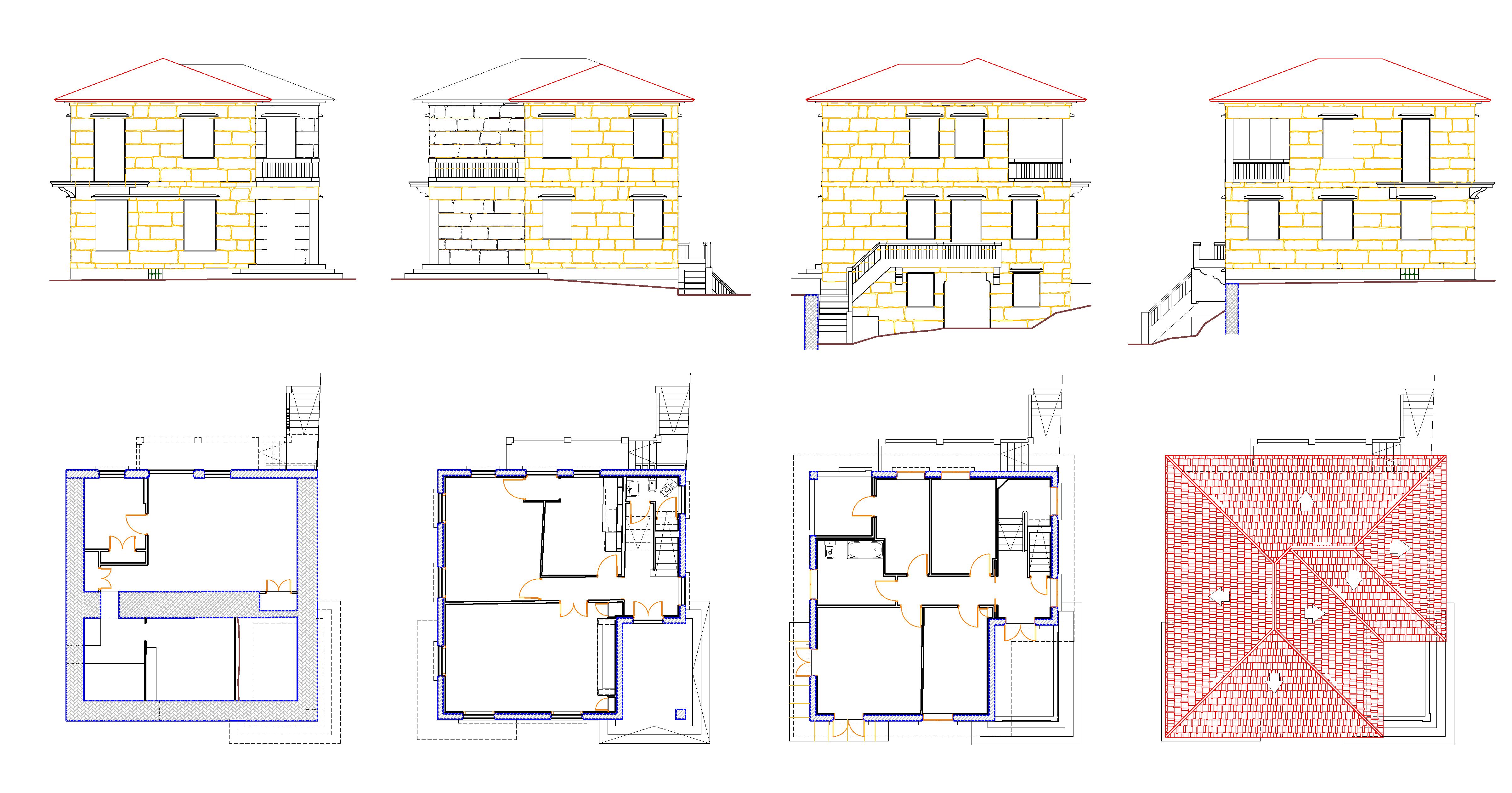 planos estado actual casa pontevedra