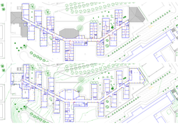 delineación de plantas de edificio