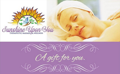60-Minute Therapeutic Massage Gift Card
