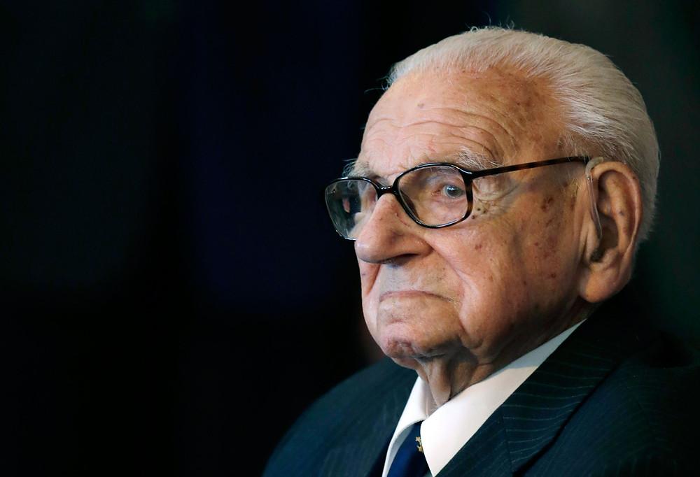 Nicholas Winton le 28 Octobre 2014 à l'age de 105 ans. © Time