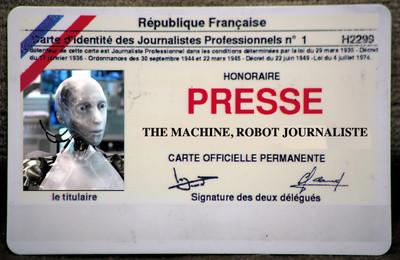 Carte de presse factice pour robot
