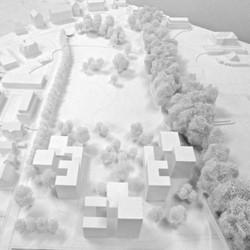 Wohnsiedlung und Park, All