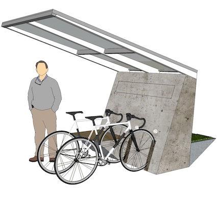 E-Port,E-Bike,Elektrovelo,Ladestation,Solarmodul,