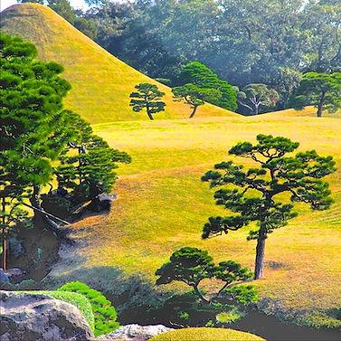 Japanese garden, suizenji, japan