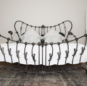 Forged Metal Bed by Alon Fainstein