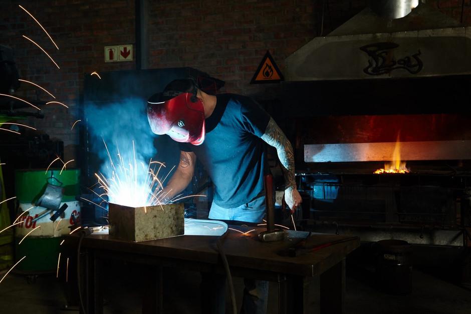Alon Fainstein in his Cape Town studio