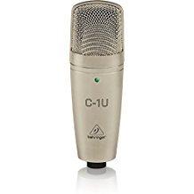 Behringer C-1U - Studio microphone (USB, 136 dB), gold color