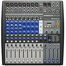 Mezcladora hibrida de 14 canales presonus con interface de audio