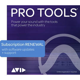 Pro Tools 1-Year Subscription RENEWAL continued software use, updates + support