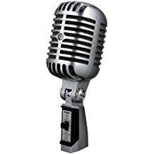 Shure 55SH - Micrófono dinámico (50-15.000 Hz, 150 ohms), color plateado
