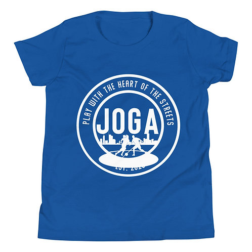 JOGA White Logo Youth Short Sleeve T-Shirt