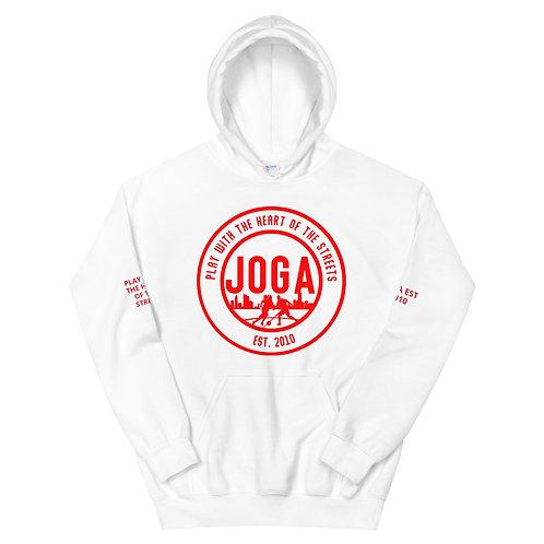 JOGA Est 2010 Hoodie White/Grey