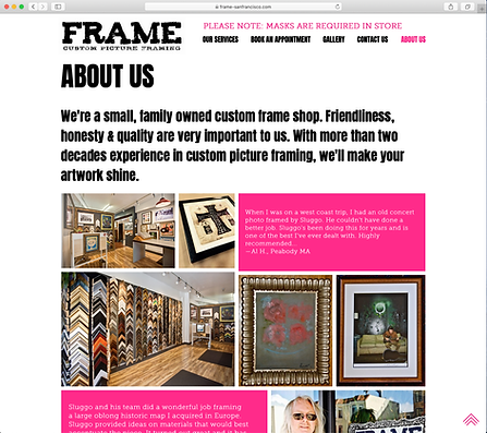FRAME San Francisco About Us