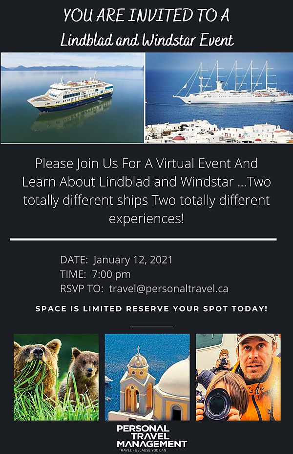 YOU ARE INVITED TO AN Lindblad and Winds