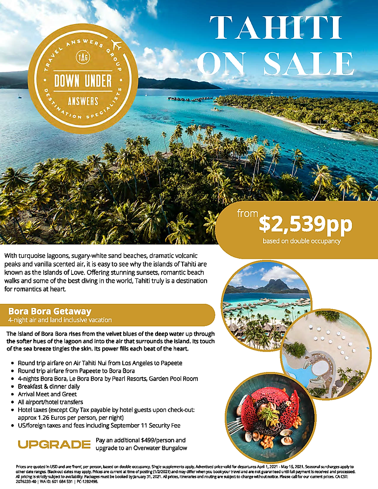 LINDA HEISS  Tahiti Specials - January 2