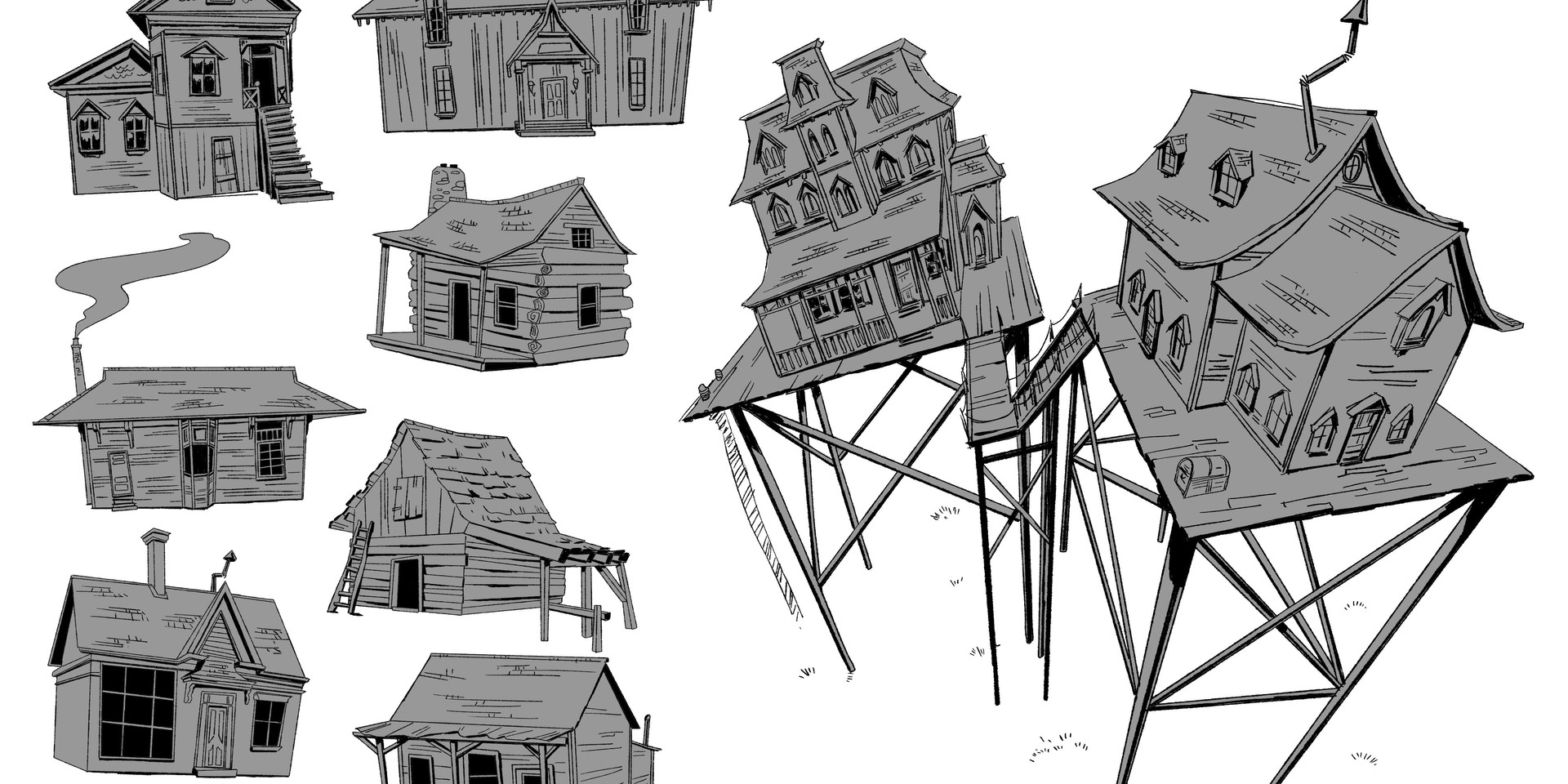 Canyon Town House Structures