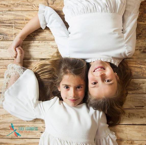 Alejandra y Martina en un descanso de la