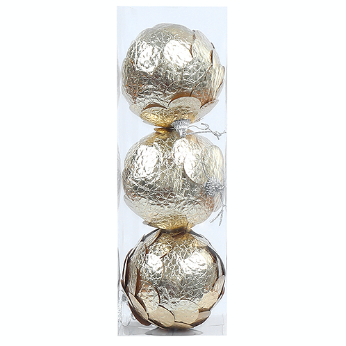 GOLD LEAF BAUBLE PACK (3pac)