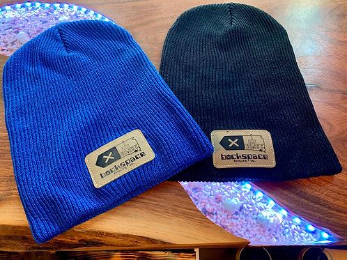 Backspace Brewing Co- Men's Patch Slouch Beanie