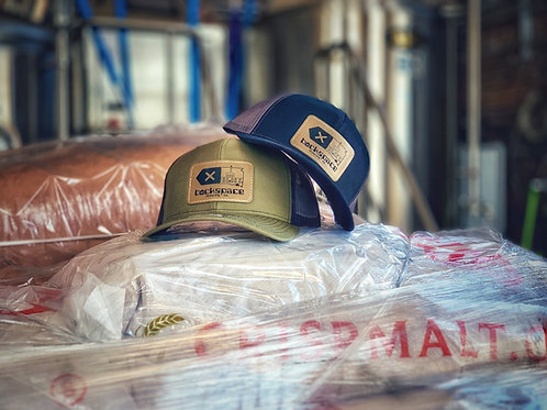 Backspace Brewing Co- Leather Patch Trucker