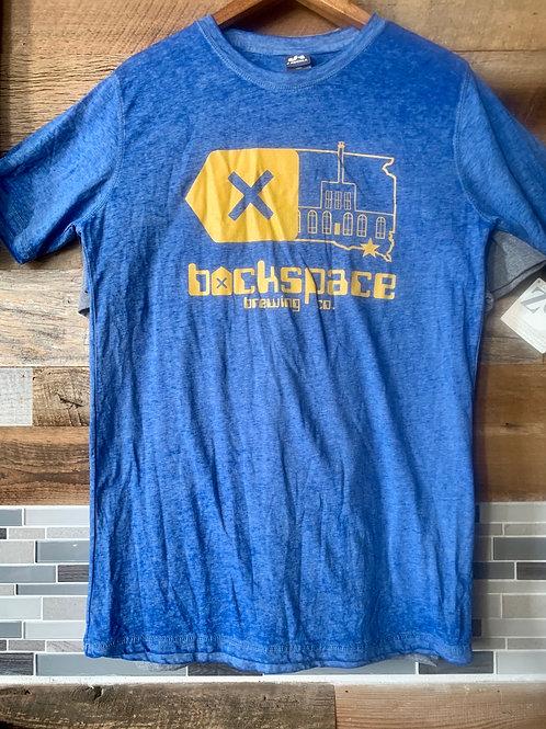 Backspace Brewing Co Logo Tee- Twisted Royal Blue