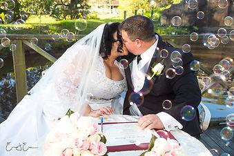 Wedding, signing the register