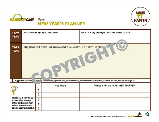 New Year Planner