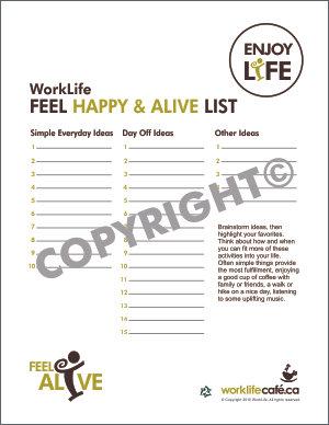Feel Happy & Alive List
