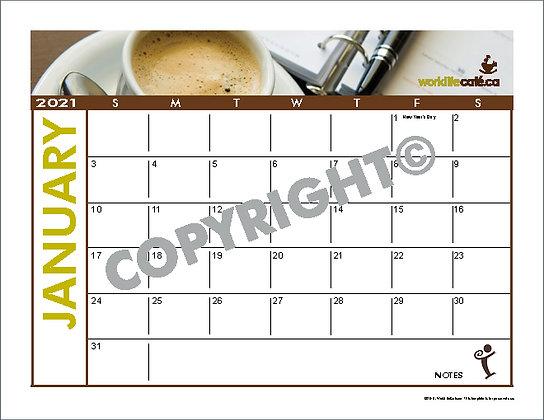 WorkLife Cafe Calendar 12 months