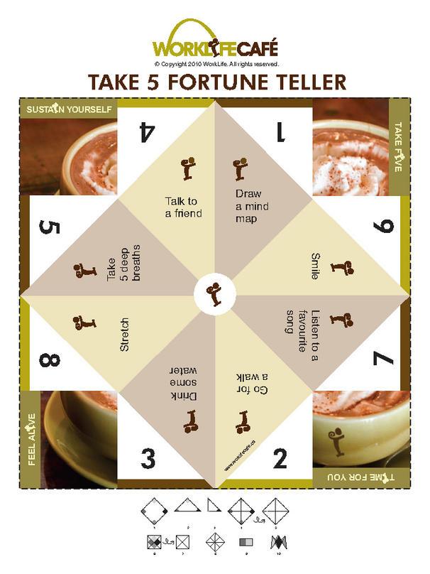 Work Life Cafe FREE Fortune Teller Take