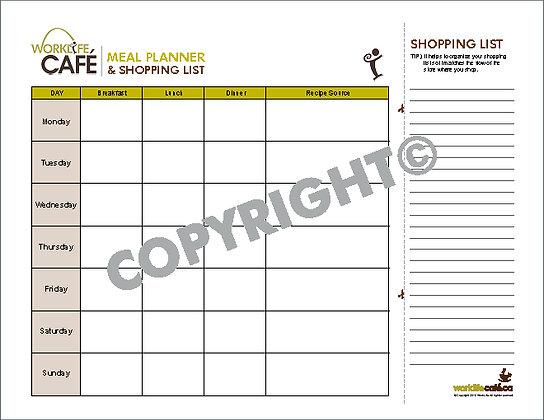 Shopping List & Menu Planner