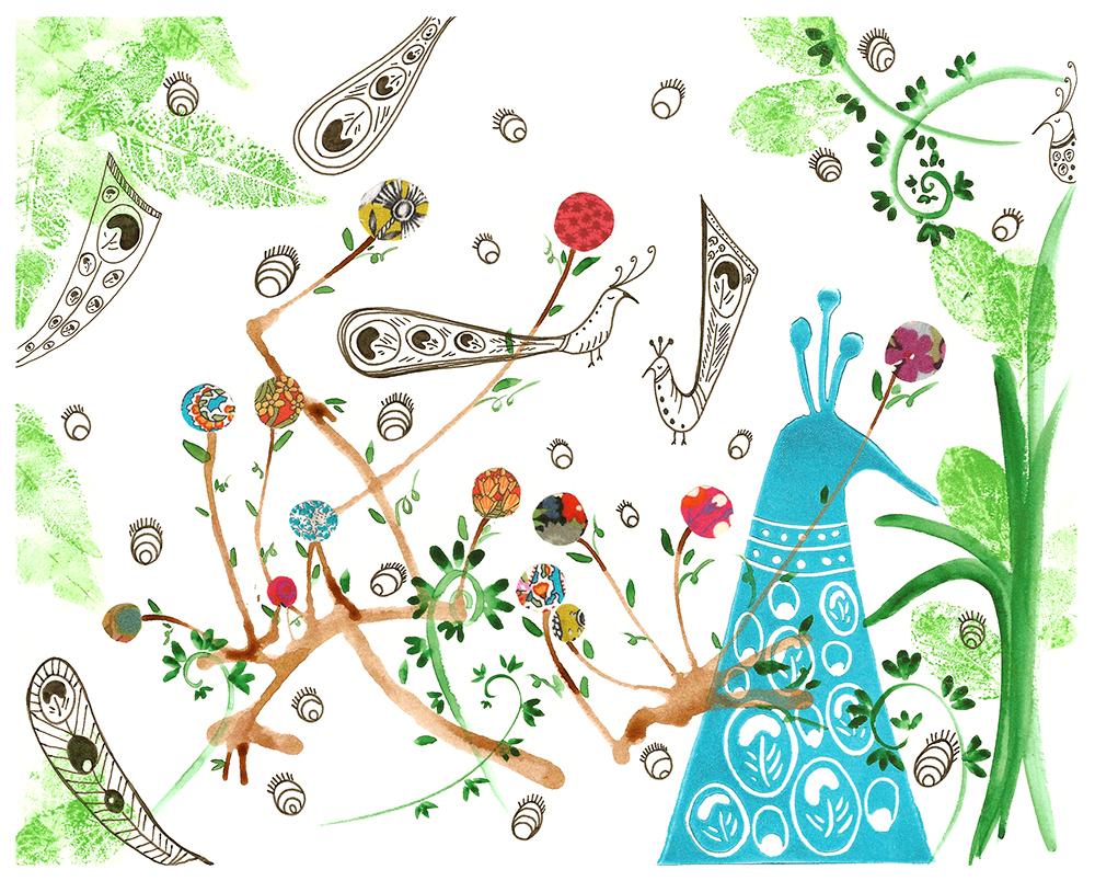 Botanical peacock thumbnail