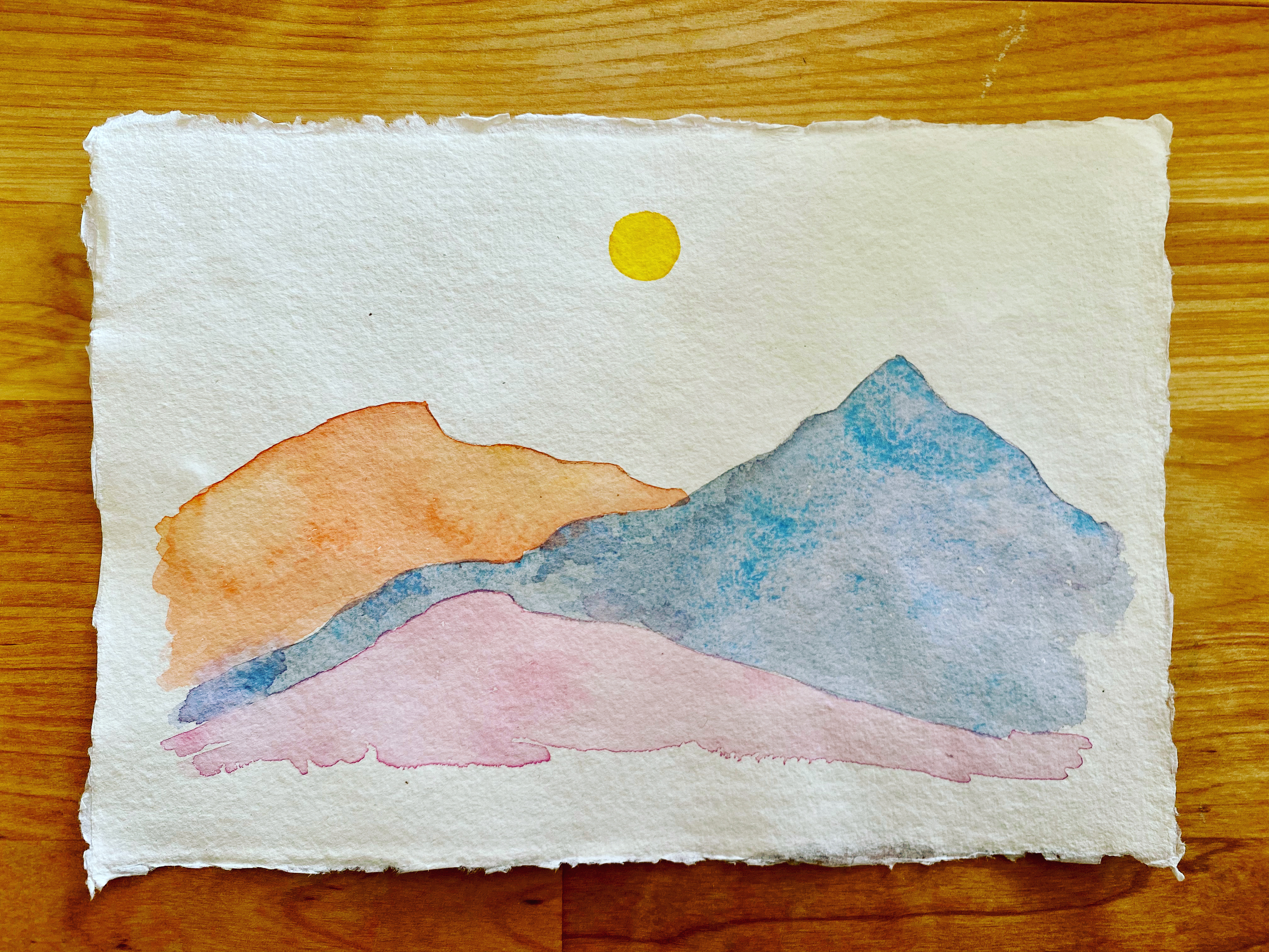 Mountains in Watercolour