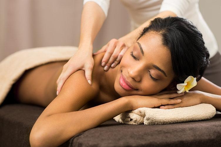 Happy massage woman