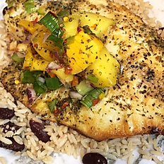 Broiled Tilapia with Mango Salsa