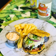 Tostones Black Bean Burger Sliders